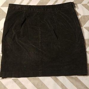 Banana Republic Skirts - Banana Republic Dark Gray Corduroy Skirt Sz 8
